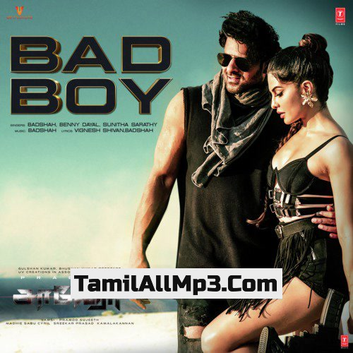 """Bad Boy From """"Saaho"""" Album Poster"""